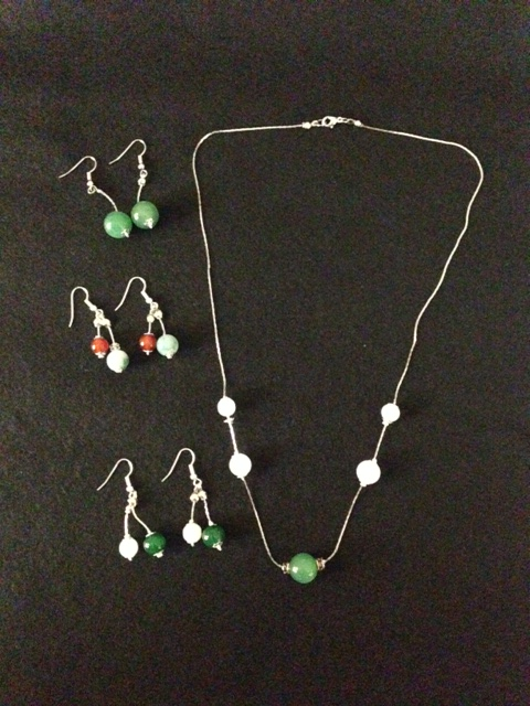 beads necklace and earrings
