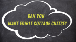 Can you make edible cottage cheese?