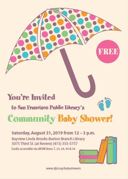 Community Baby Shower downloadable pamphlet
