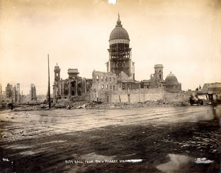 City Hall after the 1906 earthquake and fire
