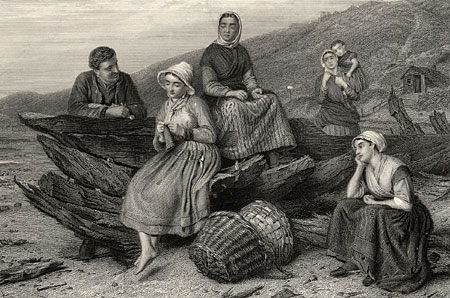 Engraving: Courtship by The Sea-side