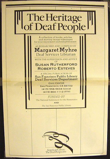 The Heritage of Deaf People poster