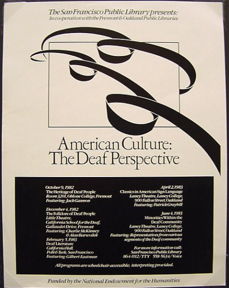 American Culture: The Deaf Perspective (flyer)