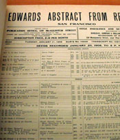 Photograph of Edwards Abstract from Records