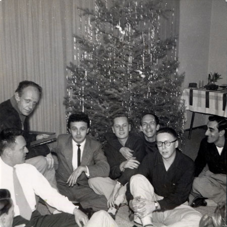 Mattachine members at a Christmas party, 1952