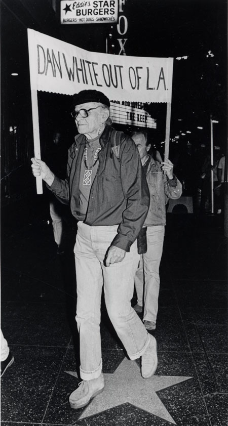 Harry Hay Protesting Dan White's Parole