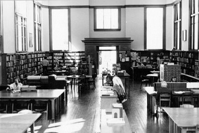Interior of the Park Branch Library in 1970