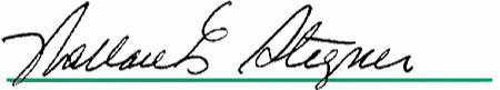 Wallace Stegner's signature