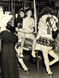 Charles I.D. Looff carousel at Playland in the 1940s