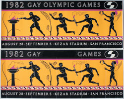 Posters from Gay Games, 1982