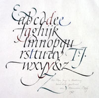Calligraphy by Hermann Zapf. Click to enlarge.