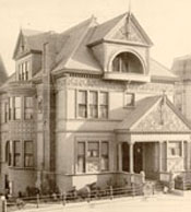 Photograph of house at 1111 Pine Street, ca. 1890