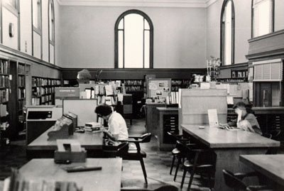 Golden Gate Valley Branch Library Interior in 1970