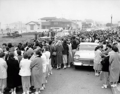 Spectators at the Merced Branch Groundbreaking Ceremony c.1957