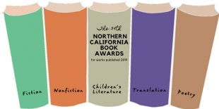 Northern California Book Awards Logo line up of clip art books