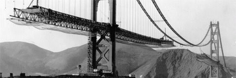 Golden Gate Bridge, under construction
