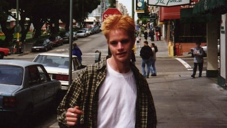 snapshop photograph of Matthew Shepard in the Castro, San Francisco