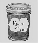 poem jam bw graphic