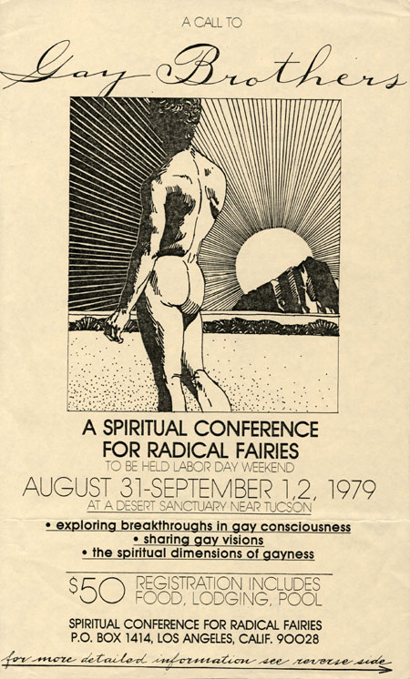 Poster advertising first Radical Fairy gathering